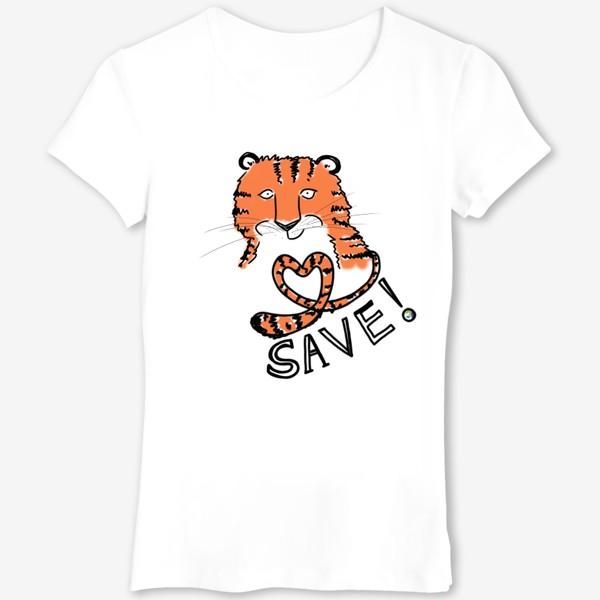 Футболка «Спаси амурского тигра! »