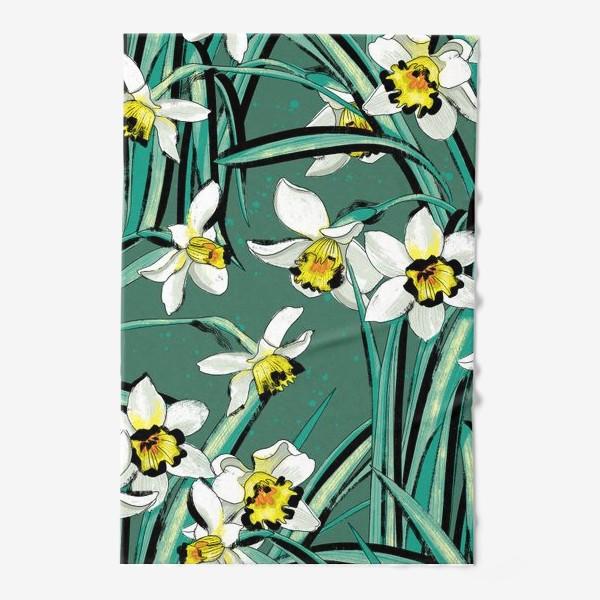 Полотенце «Нарциссы Весенние цветы»