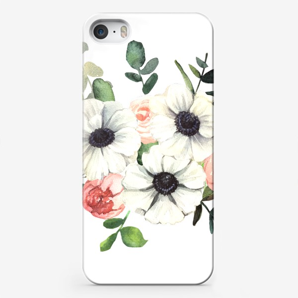 Чехол iPhone «Белые анемоны»