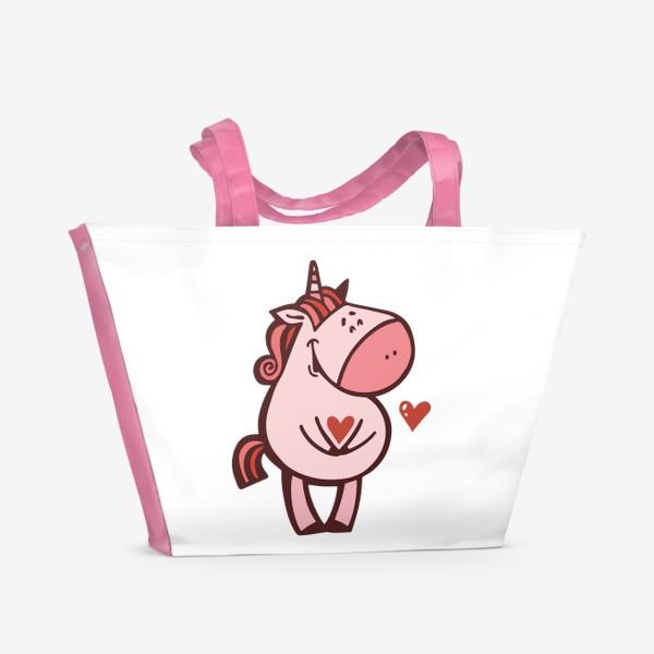 Пляжная сумка «Единорожка»