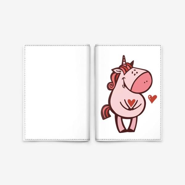 Обложка для паспорта «Единорожка»