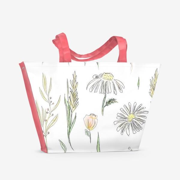 Пляжная сумка «полевые травы»
