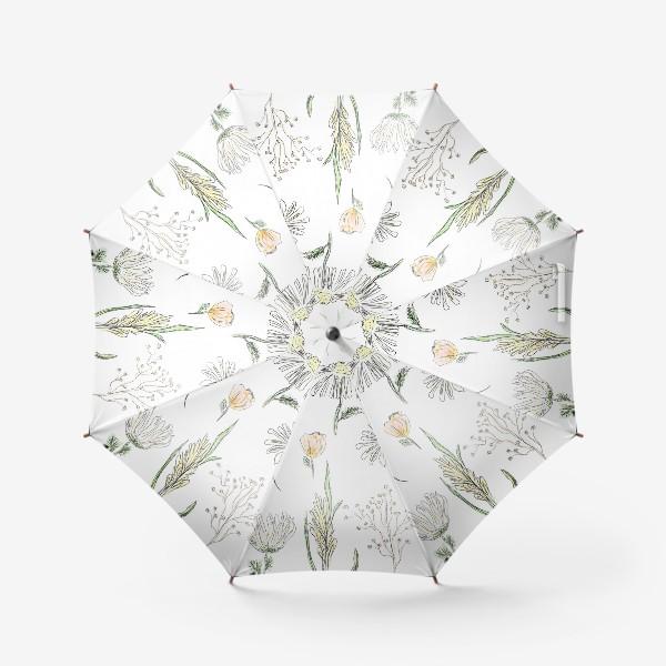 Зонт «полевые травы»