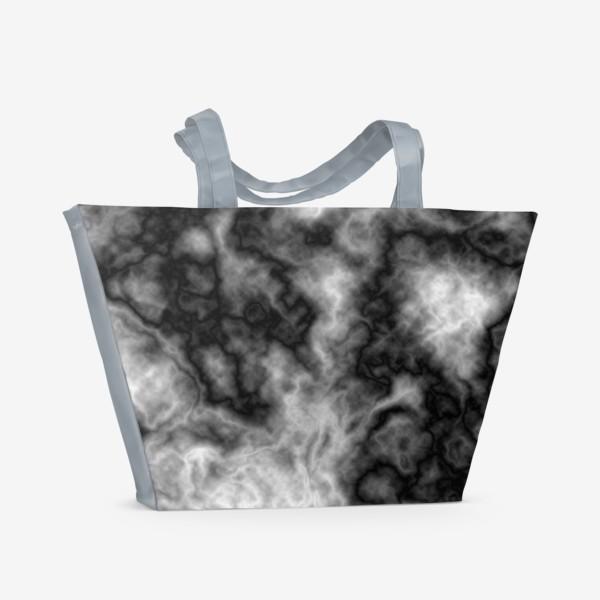 Пляжная сумка «Текстура, размытый фон, туман, вода»