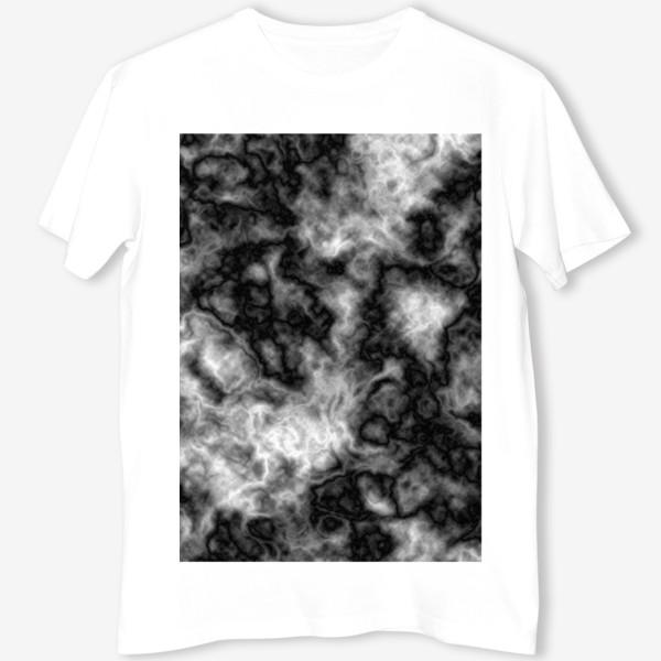 Футболка «Текстура, размытый фон, туман, вода»