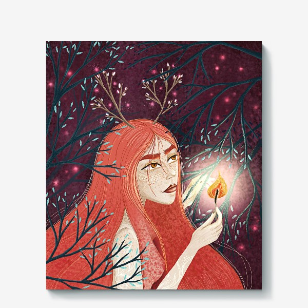 Холст «Королева Огня/Королева Весны»