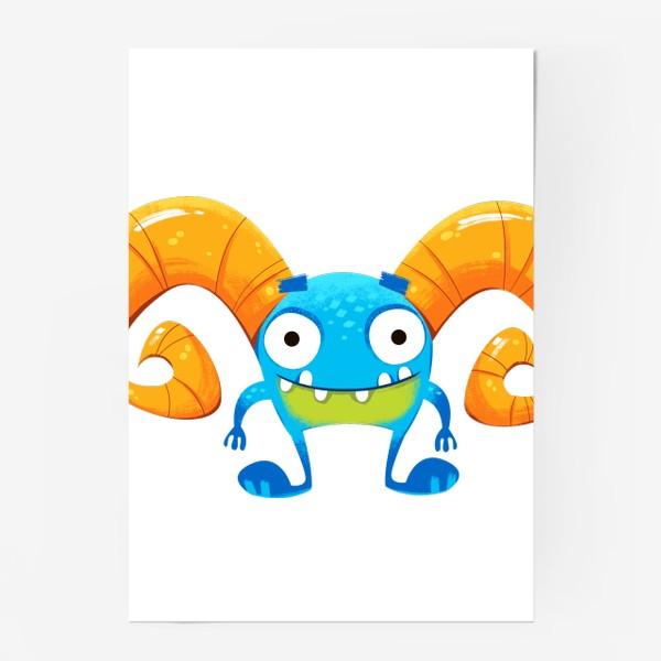 Постер «монстр козерог»