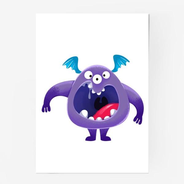 Постер «монстр крикун»