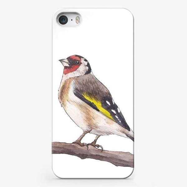 Чехол iPhone «Птицы. Щегол»