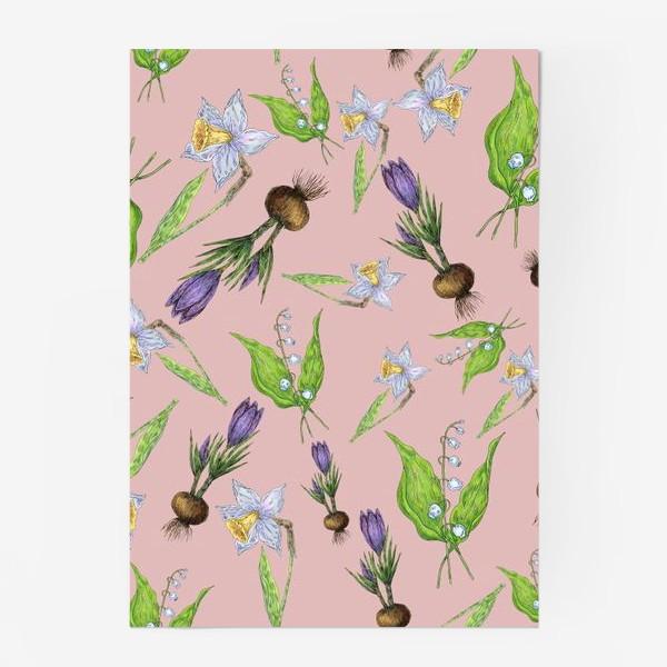 Постер «Паттерн нежность с весенними цветами»