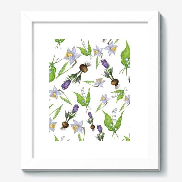 Картина «Узор с весенними цветами»