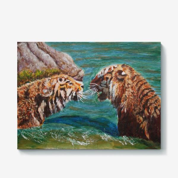 Холст «Амурские тигры»