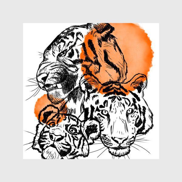 Шторы «Тигры»