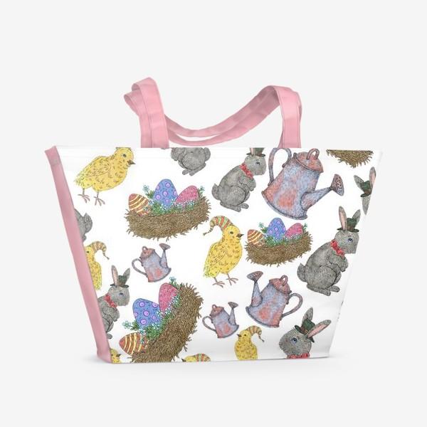 Пляжная сумка «Паттерн пасха»
