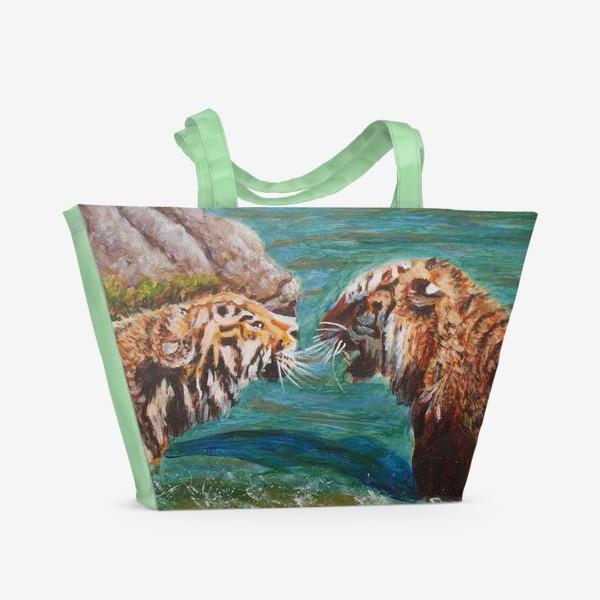 Пляжная сумка «Амурские тигры»