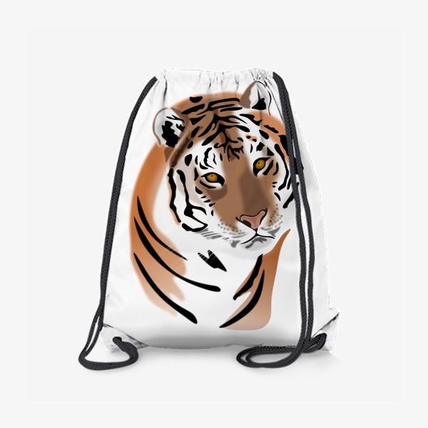 Рюкзак «Амурский тигр с надписью Я исчезаю»