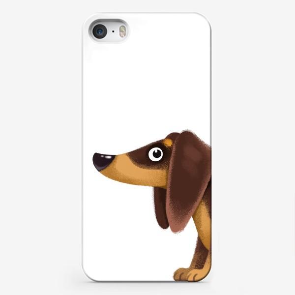 Чехол iPhone «такса мультяшная»