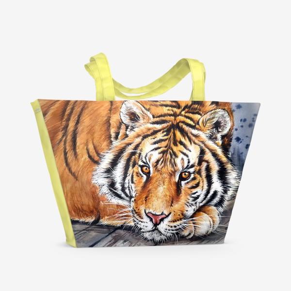 Пляжная сумка «амурский тигр»