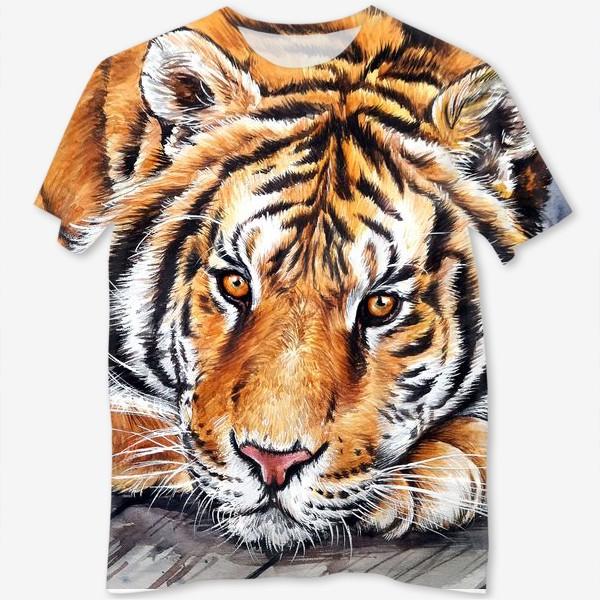 Футболка с полной запечаткой «амурский тигр»