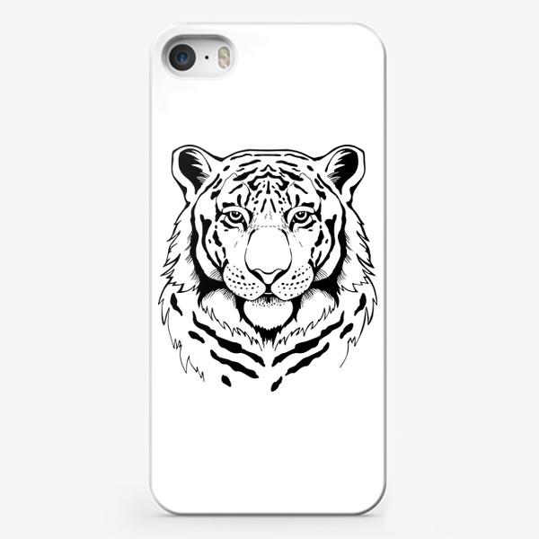 Чехол iPhone «Амурский тигр. Графика»