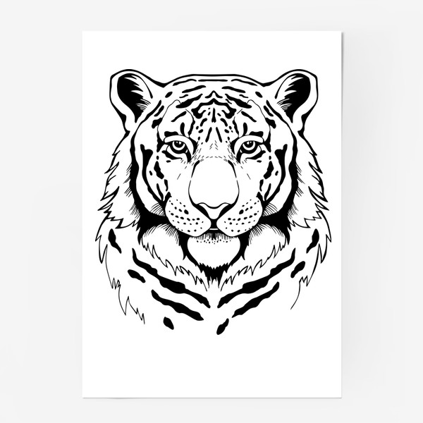 Постер «Амурский тигр. Графика»