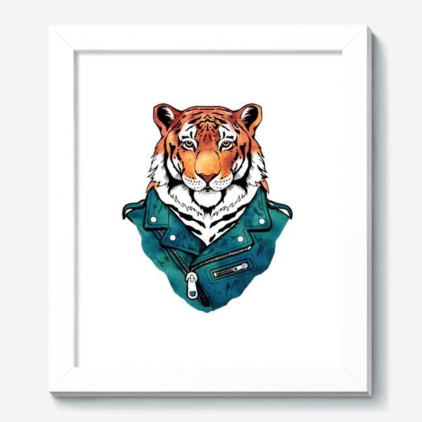 Картина «Амурский тигр в куртке-косухе»