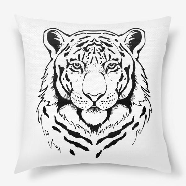 Подушка «Амурский тигр. Графика»