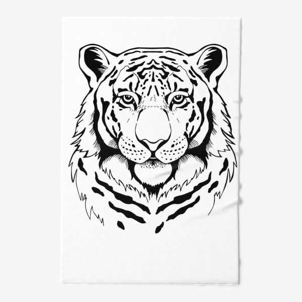 Полотенце «Амурский тигр. Графика»