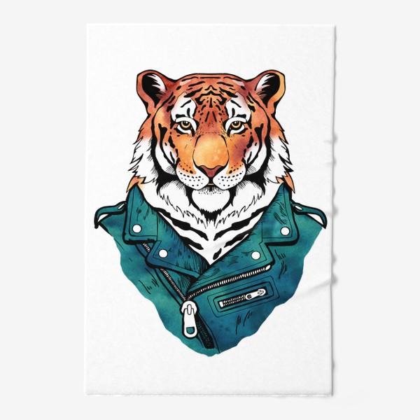 Полотенце «Амурский тигр в куртке-косухе»