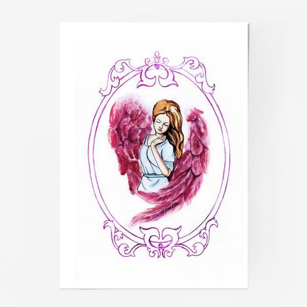 Постер «Ангел розовый»