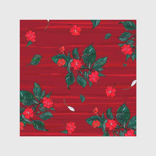 Скатерть «красные цветы. бальзамин»