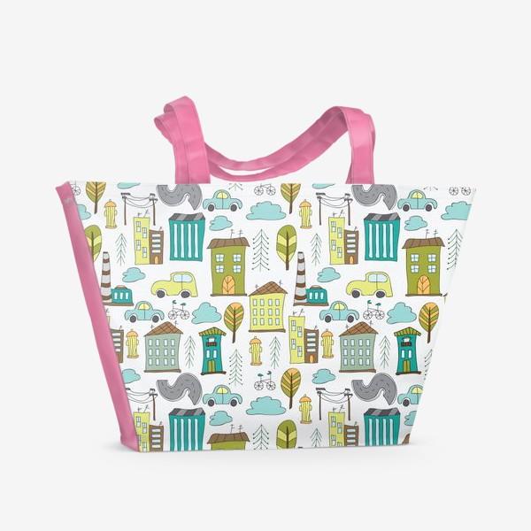 Пляжная сумка «Городская жизнь»