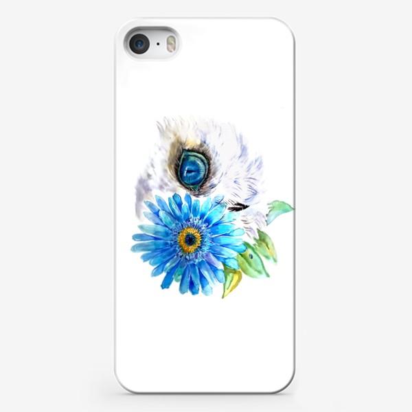 Чехол iPhone «сова и цветок»