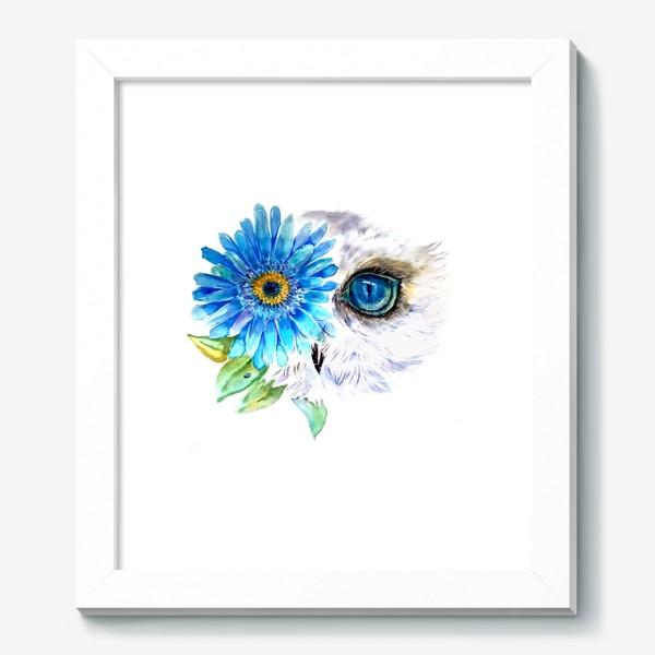 Картина «сова и цветок»