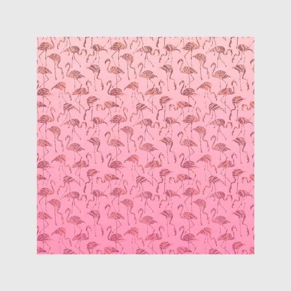 Скатерть «Фламинго тропик розовый»