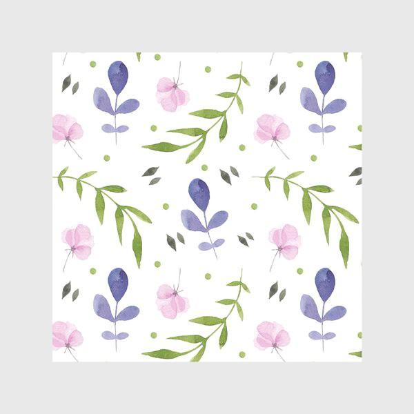 Скатерть «Орнамент из розовых и фиолетовых цветов»