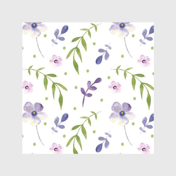 Скатерть «Орнамент из фиолетовых цветов»