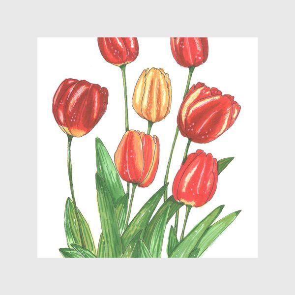 Скатерть «Тюльпаны яркие. Весенние цветы»