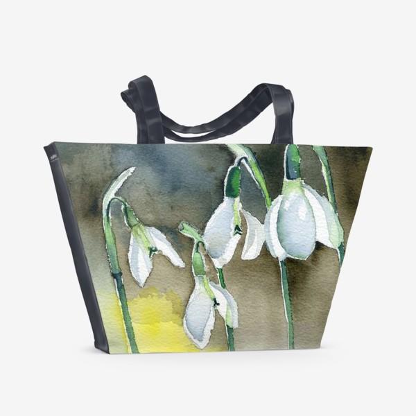 Пляжная сумка «Подснежники»