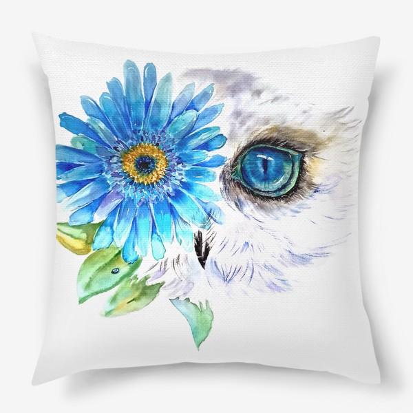 Подушка «сова и цветок»