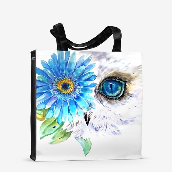 Сумка-шоппер «сова и цветок»