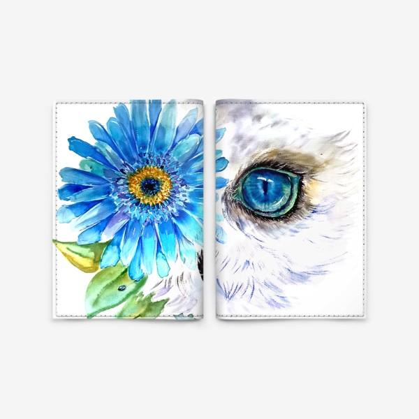 Обложка для паспорта «сова и цветок»