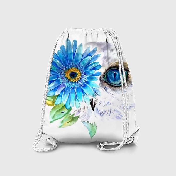Рюкзак «сова и цветок»