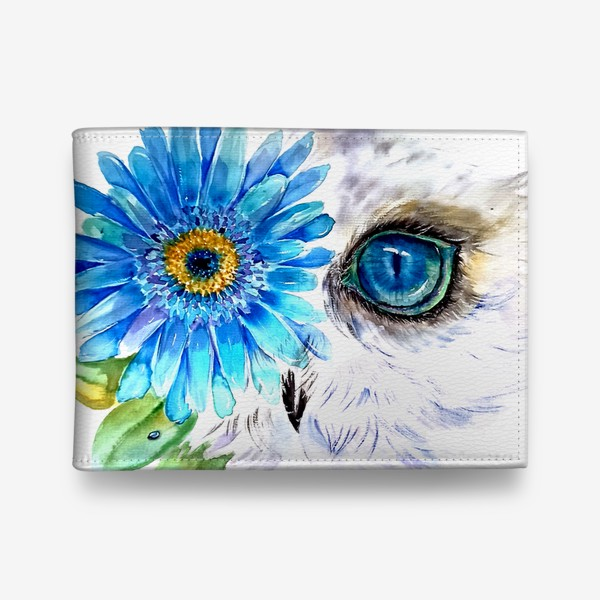 Кошелек «сова и цветок»