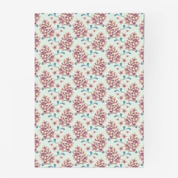 Постер «Нежные цветы в пастельной цветовой гамме»