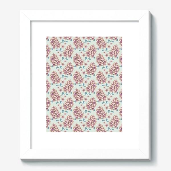 Картина «Нежные цветы в пастельной цветовой гамме»