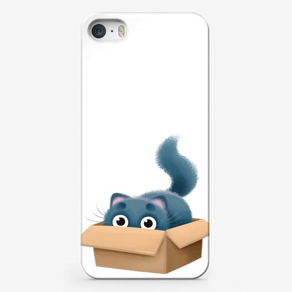 Чехол iPhone «кот в коробке»