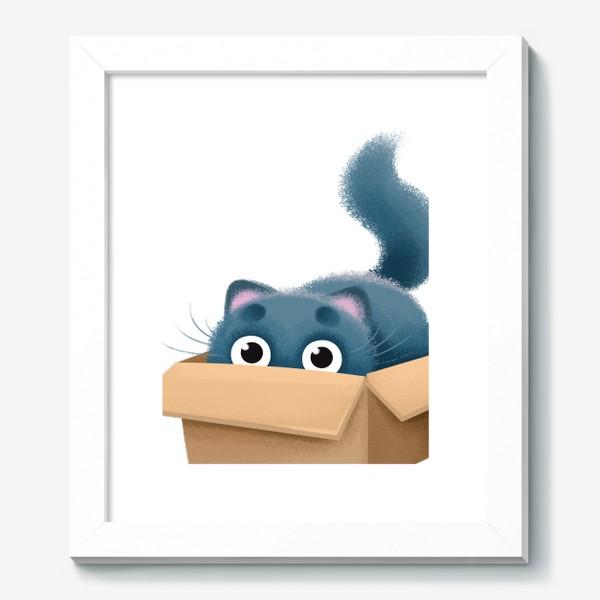 Картина «кот в коробке»