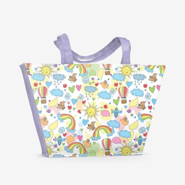 Пляжная сумка «Летний паттерн»