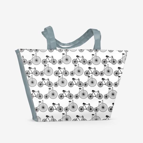 Пляжная сумка «Велосипеды»